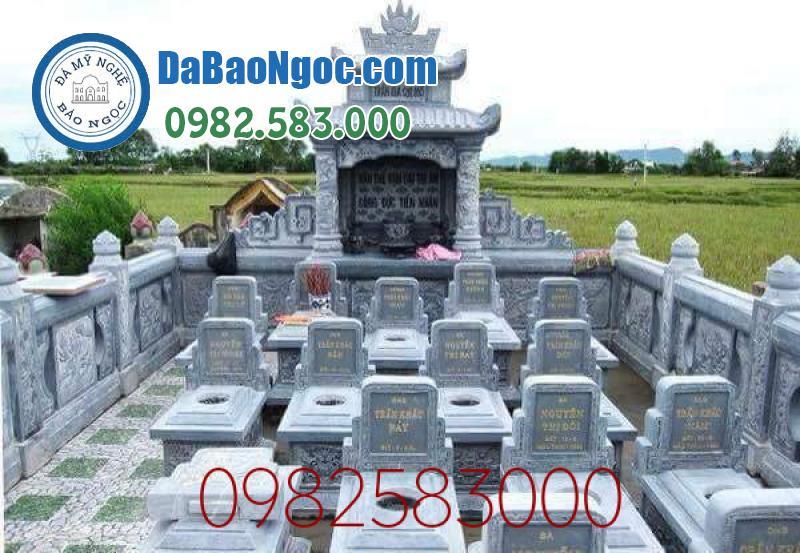 Lăng mộ đá là nơi chôn cất chung của gia tộc