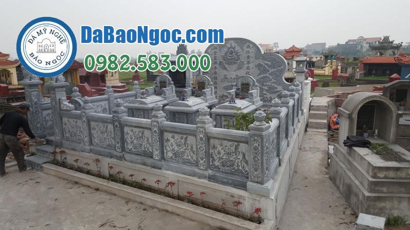 Khu lăng mộ đá bằng đá xanh tự nhiên Ninh Bình