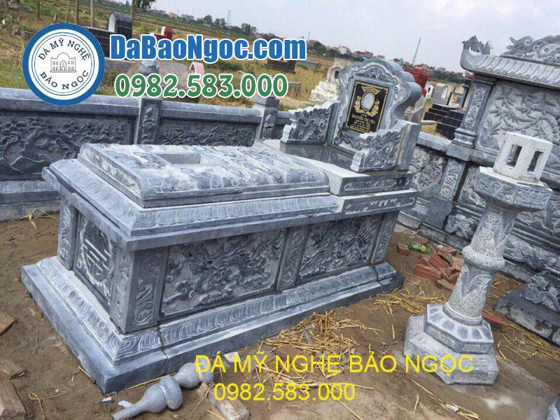 Mộ đá tam sơn bằng đá Xanh Ninh Bình