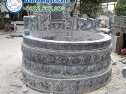 Mộ đá tròn bằng đá xanh đen