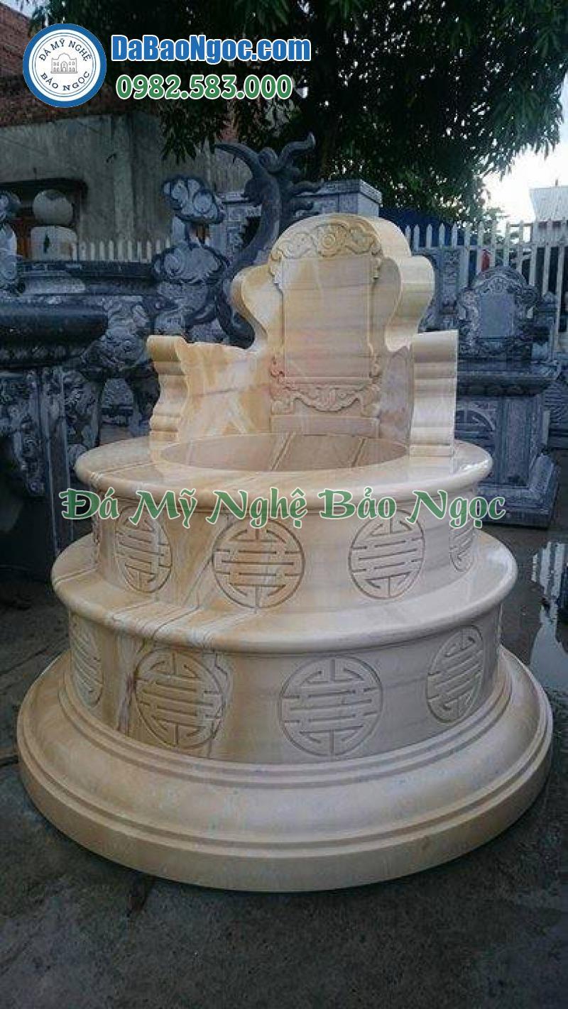 Mộ đá tròn làm bằng đá vàng Nghệ An