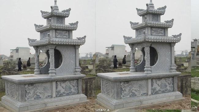 mộ đá 3 mái đẹp