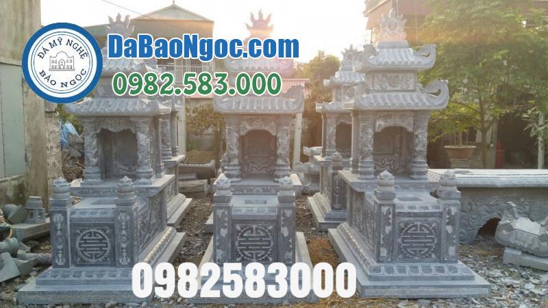 Những mẫu mộ đá hai mái đẹp tại Ninh Bình