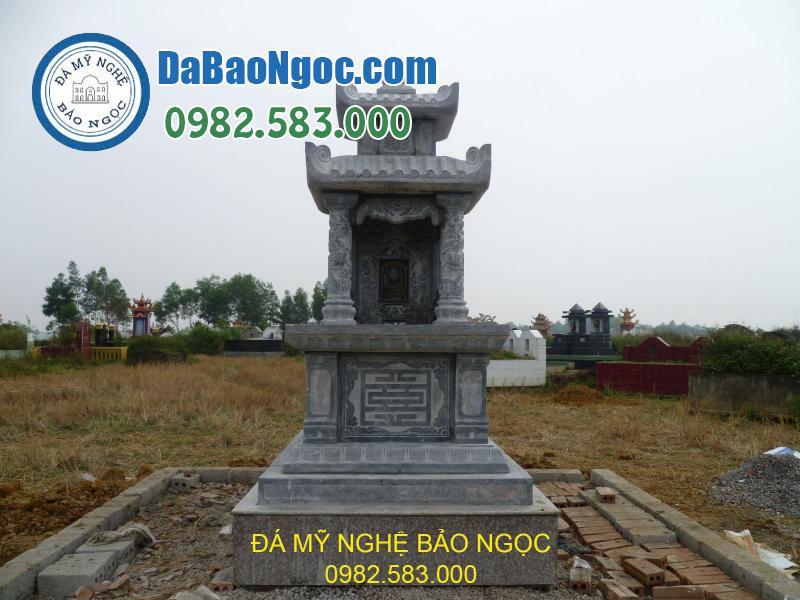 Mẫu mộ đá 2 mái đẹp Ninh Bình