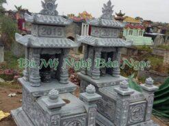 Mộ đá hai mái bằng đá xanh tự nhiên Ninh Bình