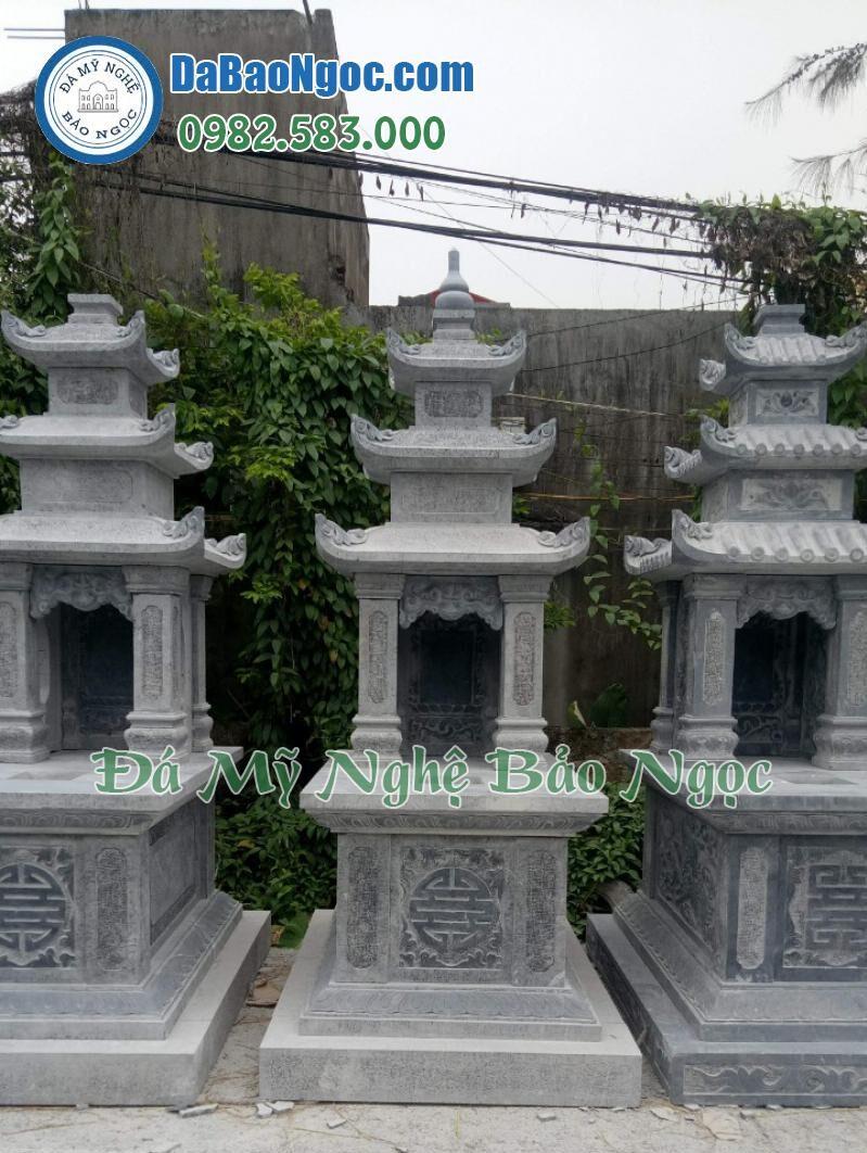 Các mẫu mộ đá ba mái được làm sẵn