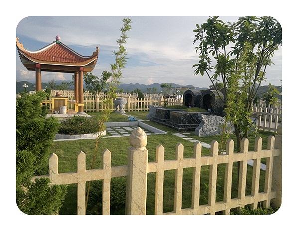 Nhà chòi ở những khuôn viên mộ có diện tích từ 200m2