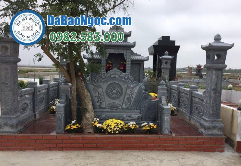 Mẫu lăng mộ đá bằng đá xanh Ninh Bình