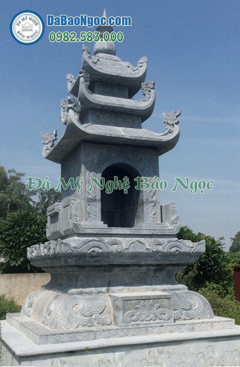 Mộ tháp đá để tro cốt 3 mái
