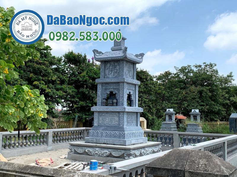 mộ tháp đá làm bằng đá xanh Ninh Bình