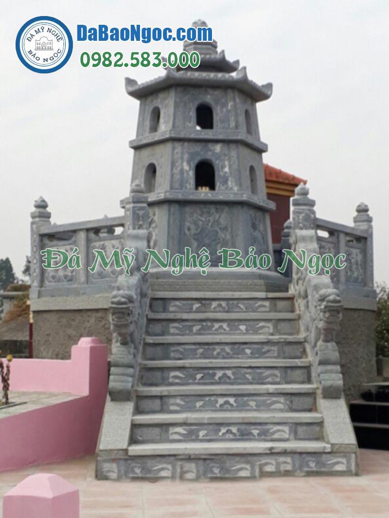 Mẫu mộ tháp thường thiết kết hiện đại