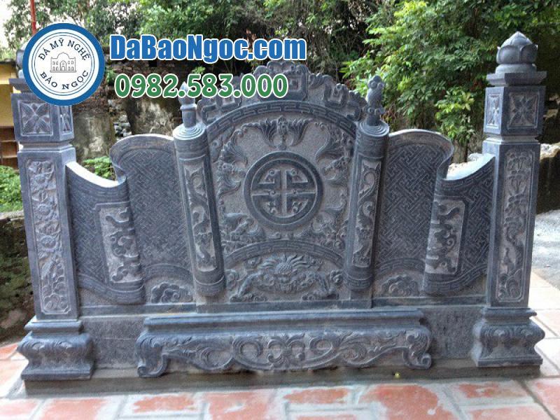 Cuốn thư đá bằng đá xanh Ninh Bình