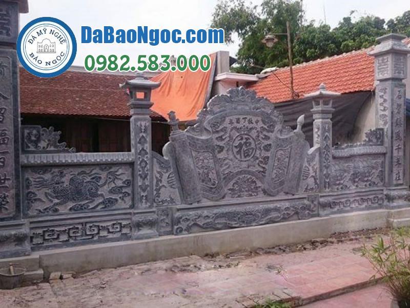 Mẫu cuốn thư đá tại nhà thờ họ Ninh Bình