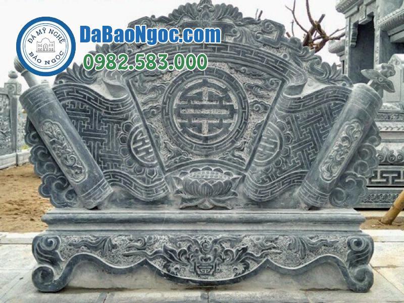 cuốn thư đá xxepj bằng đá xanh Thanh Hóa