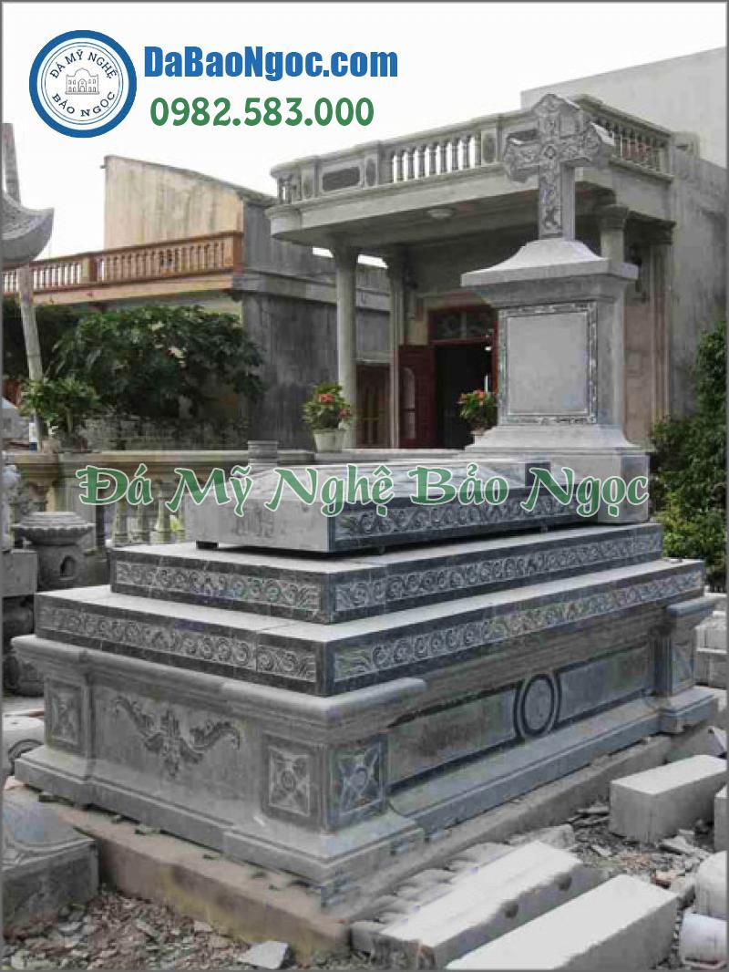 mộ đá công giáo-18