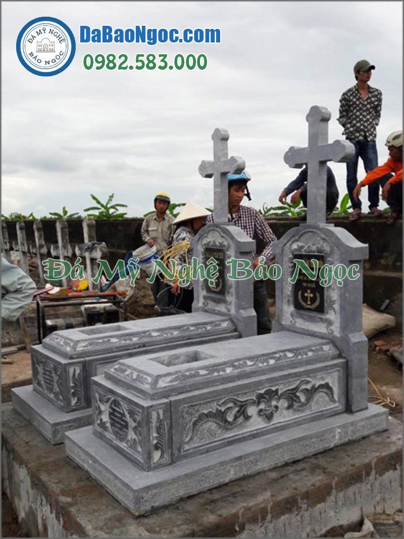 mộ đá công giáo-21