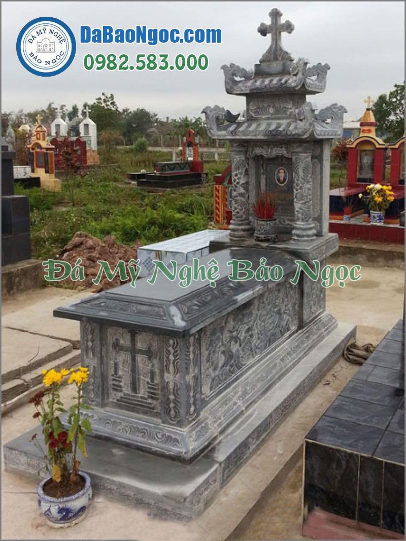 mộ đá công giáo-23