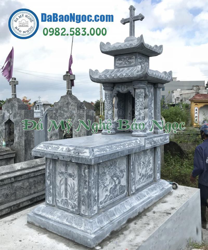 mộ đá công giáo 2 mái