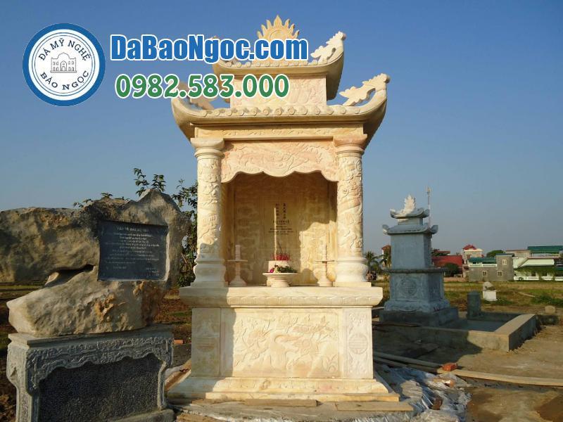 Lăng thờ đá bằng đá vàng Nghệ An