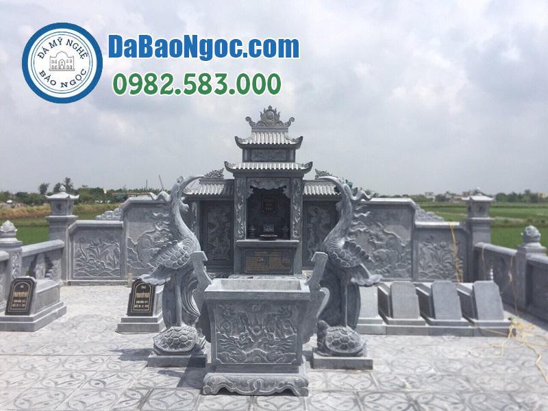 lăng thờ đá trong khu lăng mộ ở Phú Thọ