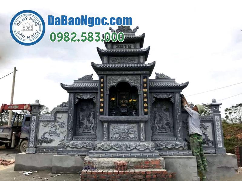 thi công lăng thờ đá đẹp Ninh Bình