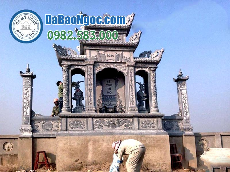Thi công lăng thờ đá cánh đẹp tại Ninh Bình