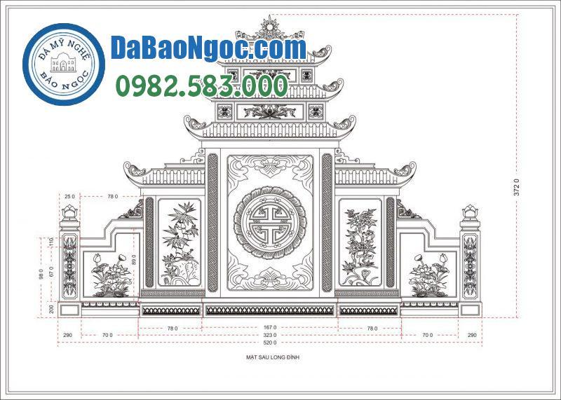 Bảng thiết kế mặt sau lăng thờ chung